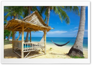 Hammock On The Beach HD Wide Wallpaper for Widescreen