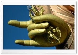 Hand Sculpture HD Wide Wallpaper for Widescreen