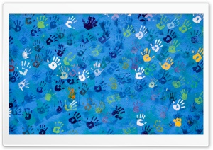 HandPrint Art HD Wide Wallpaper for Widescreen
