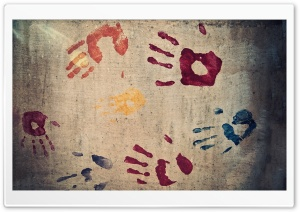 Handprints HD Wide Wallpaper for Widescreen