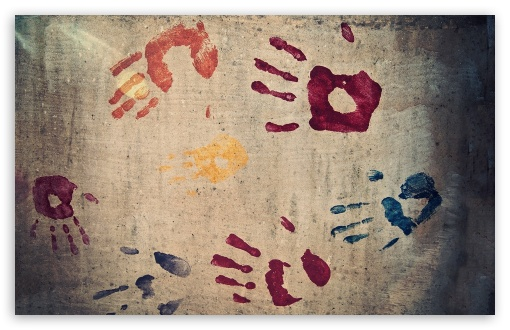 Handprints HD wallpaper for Standard 4:3 5:4 Fullscreen UXGA XGA SVGA QSXGA SXGA ; Wide 16:10 5:3 Widescreen WHXGA WQXGA WUXGA WXGA WGA ; HD 16:9 High Definition WQHD QWXGA 1080p 900p 720p QHD nHD ; Other 3:2 DVGA HVGA HQVGA devices ( Apple PowerBook G4 iPhone 4 3G 3GS iPod Touch ) ; Mobile VGA WVGA iPhone iPad PSP Phone - VGA QVGA Smartphone ( PocketPC GPS iPod Zune BlackBerry HTC Samsung LG Nokia Eten Asus ) WVGA WQVGA Smartphone ( HTC Samsung Sony Ericsson LG Vertu MIO ) HVGA Smartphone ( Apple iPhone iPod BlackBerry HTC Samsung Nokia ) Sony PSP Zune HD Zen ;