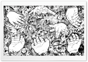 Hands Drawing HD Wide Wallpaper for Widescreen