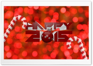 Happy 2015 HD Wide Wallpaper for Widescreen