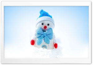 Happy Christmas Cute Snowman Winter Ultra HD Wallpaper for 4K UHD Widescreen desktop, tablet & smartphone