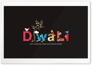 Happy Diwali HD Wide Wallpaper for Widescreen