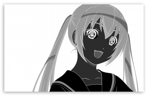 Happy Girl Anime Monochrome HD wallpaper for Wide 16:10 5:3 Widescreen WHXGA WQXGA WUXGA WXGA WGA ; HD 16:9 High Definition WQHD QWXGA 1080p 900p 720p QHD nHD ; Standard 4:3 5:4 3:2 Fullscreen UXGA XGA SVGA QSXGA SXGA DVGA HVGA HQVGA devices ( Apple PowerBook G4 iPhone 4 3G 3GS iPod Touch ) ; iPad 1/2/Mini ; Mobile 4:3 5:3 3:2 16:9 5:4 - UXGA XGA SVGA WGA DVGA HVGA HQVGA devices ( Apple PowerBook G4 iPhone 4 3G 3GS iPod Touch ) WQHD QWXGA 1080p 900p 720p QHD nHD QSXGA SXGA ;