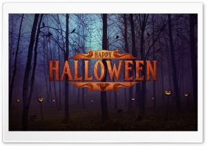 Happy Halloween 2014 HD Wide Wallpaper for 4K UHD Widescreen desktop & smartphone