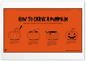 Happy Halloween 2016, How to Carve a Pumpkin HD Wide Wallpaper for Widescreen