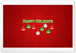 Happy Holidays HD Wide Wallpaper for 4K UHD Widescreen desktop & smartphone