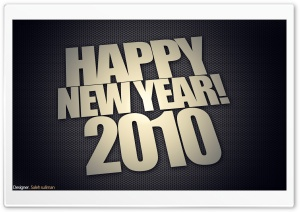 Happy New Year! 2010 HD Wide Wallpaper for Widescreen