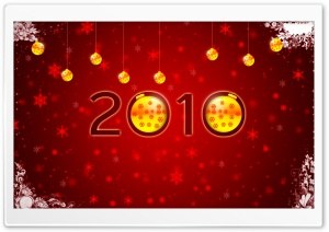 Happy New Year 2010 HD Wide Wallpaper for Widescreen