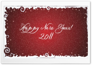 Happy New Year 2011 HD Wide Wallpaper for Widescreen