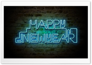 Happy New Year 2013 - Neon HD Wide Wallpaper for Widescreen