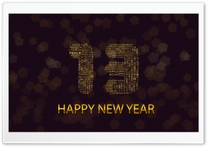 Happy New Year 2013 Greetings HD Wide Wallpaper for 4K UHD Widescreen desktop & smartphone