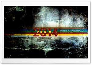 Happy New Year 2014 By ANGUSXRed HD Wide Wallpaper for Widescreen