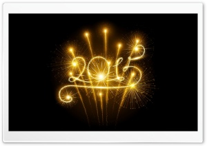 Happy New Year 2015 Fireworks HD Wide Wallpaper for Widescreen