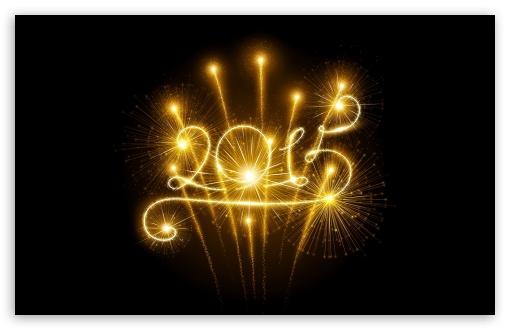 Happy New Year 2015 Fireworks UHD Desktop Wallpaper for 4K Ultra