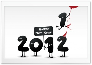 Happy New Year 2012 HD Wide Wallpaper for Widescreen