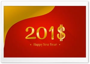 Happy New Year 2018 Money HD Wide Wallpaper for 4K UHD Widescreen desktop & smartphone