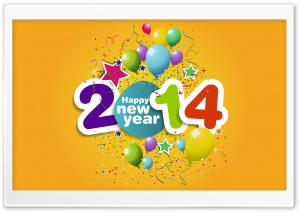 Happy New Year 2014 HD Wide Wallpaper for Widescreen