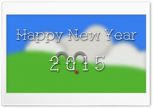Happy New Year 2015 Ultra HD Wallpaper for 4K UHD Widescreen desktop, tablet & smartphone