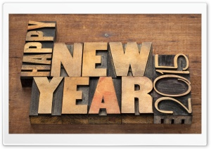 Happy New Year 2015 HD Wide Wallpaper for Widescreen