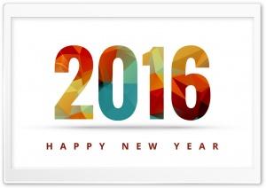 Happy New Year 2016 HD Wide Wallpaper for 4K UHD Widescreen desktop & smartphone