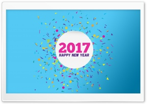 Happy New Year 2017 HD Wide Wallpaper for Widescreen