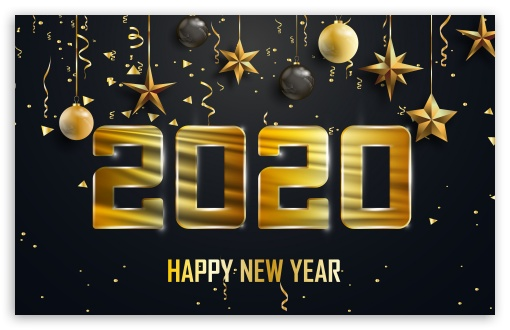 Happy New Year 2020 Ultra Hd Desktop Background Wallpaper