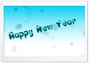 Happy New Year HD Wide Wallpaper for Widescreen
