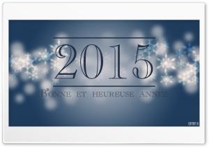 Happy New Year - Bonne et Heureuse Anne HD Wide Wallpaper for Widescreen