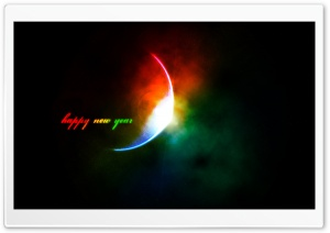 Happy New Year Colorful HD Wide Wallpaper for Widescreen