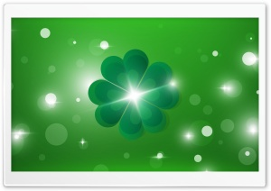 Happy Saint Patricks Day Four Leaf Clover, Good luck Ultra HD Wallpaper for 4K UHD Widescreen desktop, tablet & smartphone
