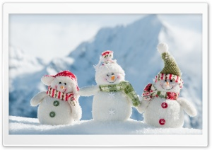 Happy Snowman HD Wide Wallpaper for Widescreen