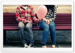 Happy Valentines Day Balloon HD Wide Wallpaper for Widescreen