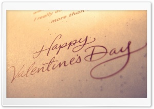 Happy Valentines Day Typography HD Wide Wallpaper for Widescreen