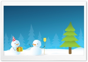 Happy Winter Holidays HD Wide Wallpaper for Widescreen