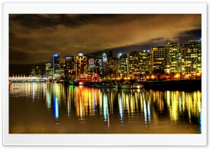 Harbour At Night HD Wide Wallpaper for Widescreen