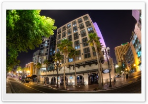 Hard Rock Hotel Night HD Wide Wallpaper for Widescreen