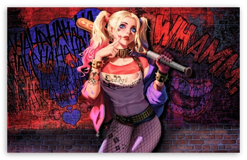 Download Harley Quinn Daddys Lil Monster UltraHD Wallpaper