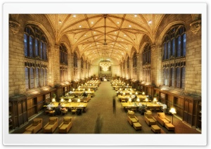 Harper Memorial Library Reading Room HD Wide Wallpaper for Widescreen
