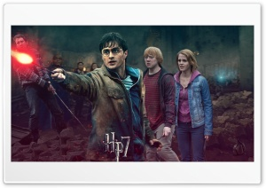 Harry Potter - Battle of Hogwarts - Harrys Side HD Wide Wallpaper for Widescreen