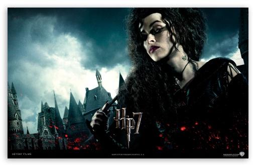 Harry Potter And The Deathly Hallows - Bellatrix HD wallpaper for Wide 16:10 5:3 Widescreen WHXGA WQXGA WUXGA WXGA WGA ; Standard 4:3 5:4 Fullscreen UXGA XGA SVGA QSXGA SXGA ; iPad 1/2/Mini ; Mobile 4:3 5:3 5:4 - UXGA XGA SVGA WGA QSXGA SXGA ;