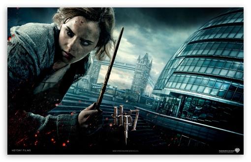 Harry Potter And The Deathly Hallows - Hermione HD wallpaper for Wide 16:10 5:3 Widescreen WHXGA WQXGA WUXGA WXGA WGA ; Standard 4:3 5:4 Fullscreen UXGA XGA SVGA QSXGA SXGA ; iPad 1/2/Mini ; Mobile 4:3 5:3 5:4 - UXGA XGA SVGA WGA QSXGA SXGA ;