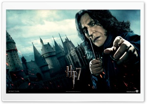 Harry Potter And The Deathly Hallows - Snape HD Wide Wallpaper for Widescreen