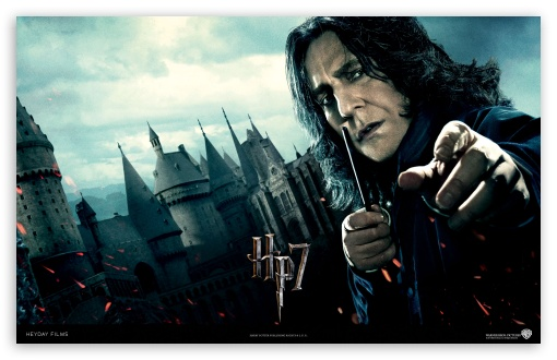 Harry Potter And The Deathly Hallows - Snape HD wallpaper for Wide 16:10 5:3 Widescreen WHXGA WQXGA WUXGA WXGA WGA ; Standard 4:3 5:4 Fullscreen UXGA XGA SVGA QSXGA SXGA ; iPad 1/2/Mini ; Mobile 4:3 5:3 5:4 - UXGA XGA SVGA WGA QSXGA SXGA ;