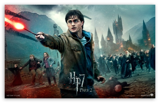 Harry Potter And The Deathly Hallows Final Battle HD wallpaper for Wide 16:10 5:3 Widescreen WHXGA WQXGA WUXGA WXGA WGA ; Mobile 5:3 16:9 - WGA WQHD QWXGA 1080p 900p 720p QHD nHD ;
