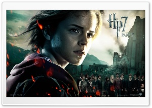 Harry Potter And The Deathly Hallows Part 2 Hermione HD Wide Wallpaper for Widescreen