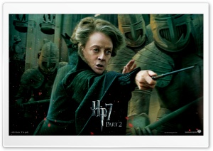 Harry Potter And The Deathly Hallows Part 2 McGonagall HD Wide Wallpaper for Widescreen