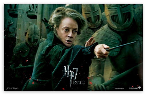 Harry Potter And The Deathly Hallows Part 2 McGonagall HD wallpaper for Wide 16:10 5:3 Widescreen WHXGA WQXGA WUXGA WXGA WGA ; Mobile 5:3 - WGA ;